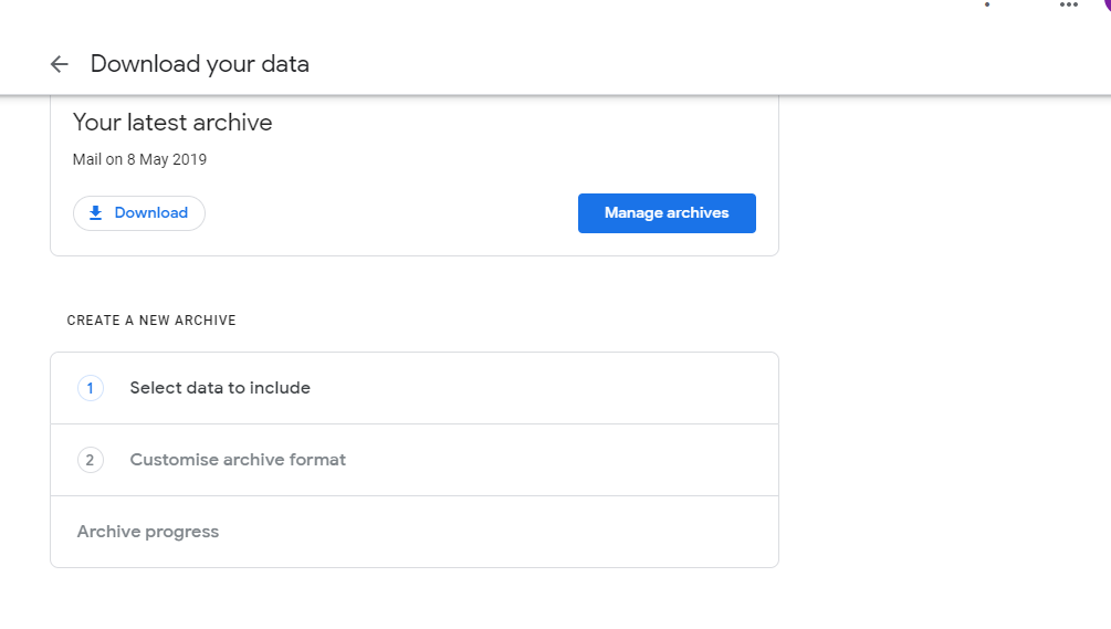 Export Google Mail Data/Gmail to MBOX with Google Takeout